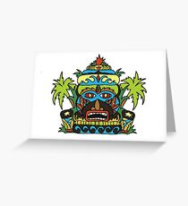 Wild Tiki God Greeting Card
