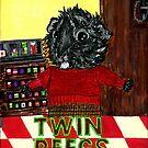 Merricat the Guinea Pig Audrey Horne in Twin Peegs aka Twin Peaks  by Rachel Smith