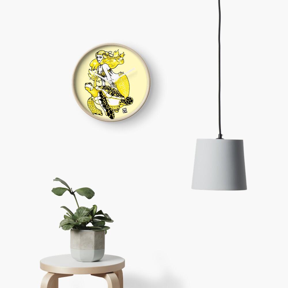 Mermaid & Turtle Clock
