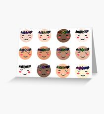 Diverse community Greeting Card