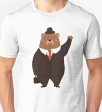 Dressed Papa Bear - Fathers Day Gift Unisex T-Shirt