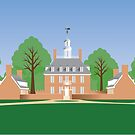 Williamsburg, Va - Governor's Palace by canossagraphics