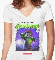 Goosebumps - The Scarecrow walks at Midnight Women's Fitted V-Neck T-Shirt
