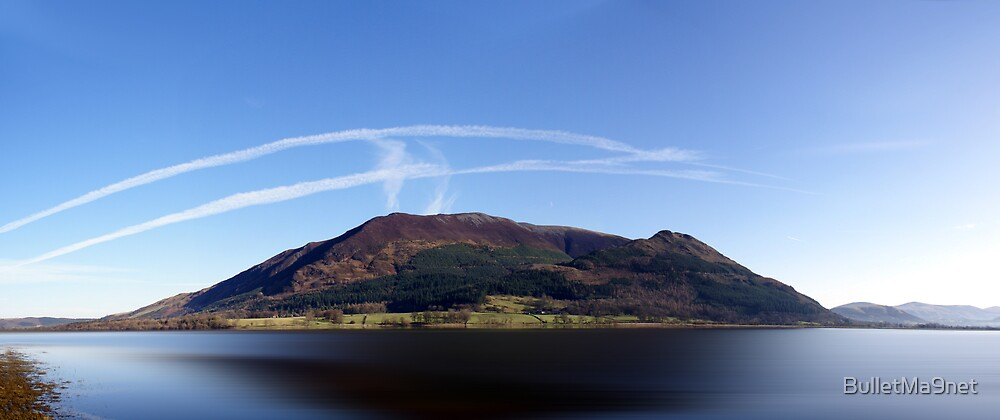 Skiddaw with Jet trails by BulletMa9net