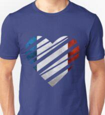 France Heart Unisex T-Shirt