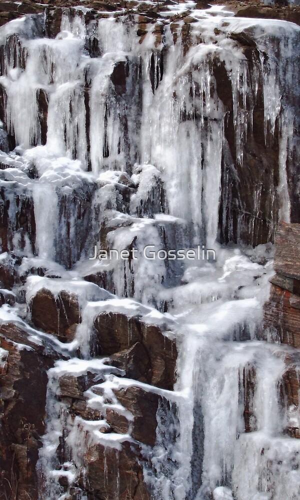 winter falls by Janet Gosselin