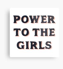 Power To The Girls Metal Print