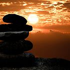 Cairn Stone Silhouette by Maria Dryfhout