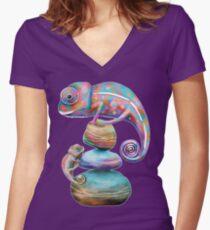 Chameleons Women's Fitted V-Neck T-Shirt