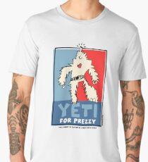 Yeti For Prezzy Retro President Election Comic Robot Monster Design Men's Premium T-Shirt