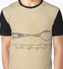 TS Eliot - J Alfred Prufrock - Coffee Spoons Graphic T-Shirt