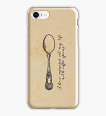 TS Eliot - J Alfred Prufrock - Coffee Spoons iPhone Case/Skin