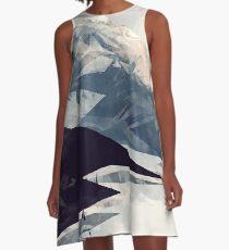 Beruhigender Berg A-Linien Kleid
