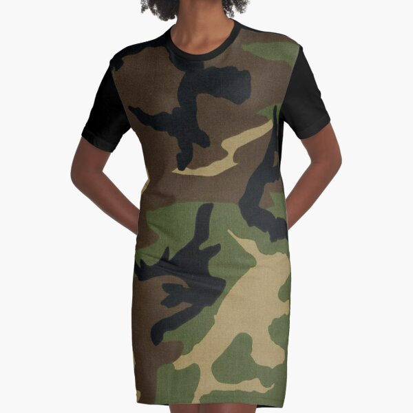 Camo Graphic T-Shirt Dress