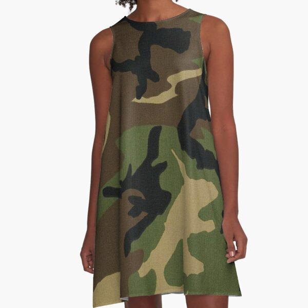 Camo A-Linien Kleid