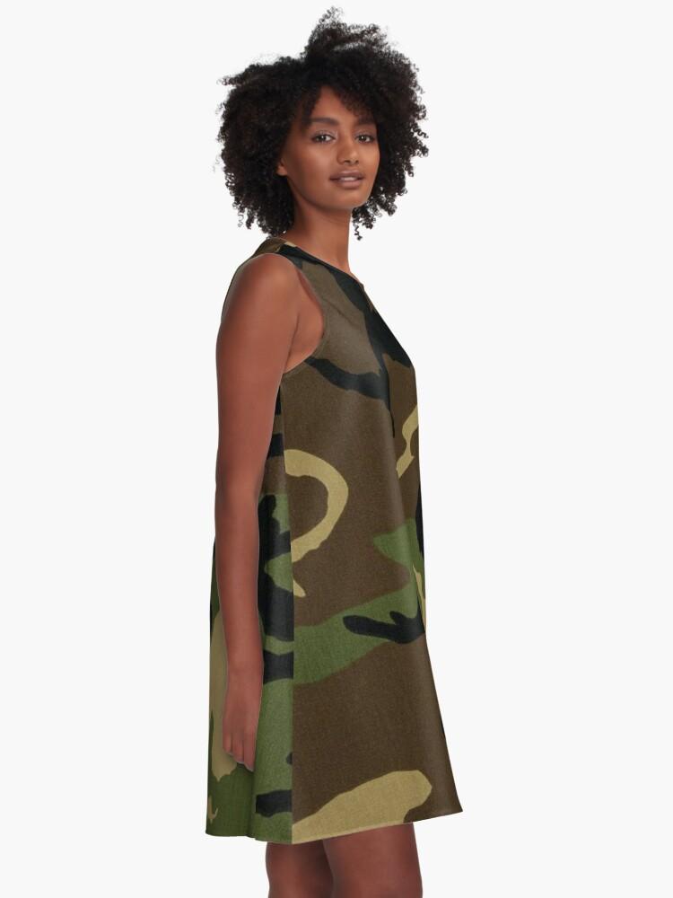 Alternative Ansicht von Camo A-Linien Kleid