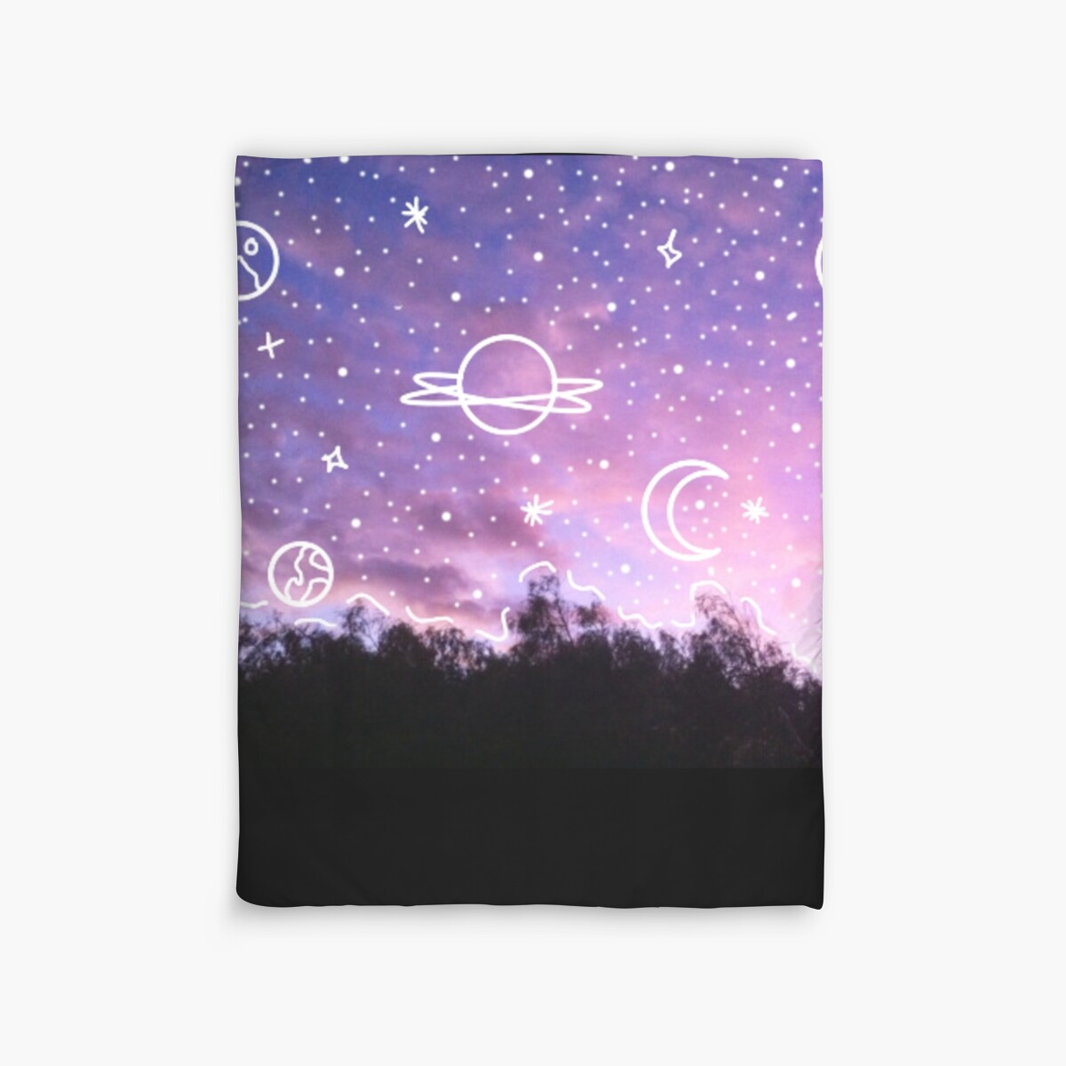 Quot Aesthetic Tumblr Sunset Galaxy Doodle Quot Duvet Covers By