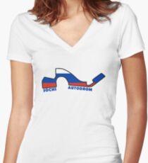 Sochi Autodrom Women's Fitted V-Neck T-Shirt