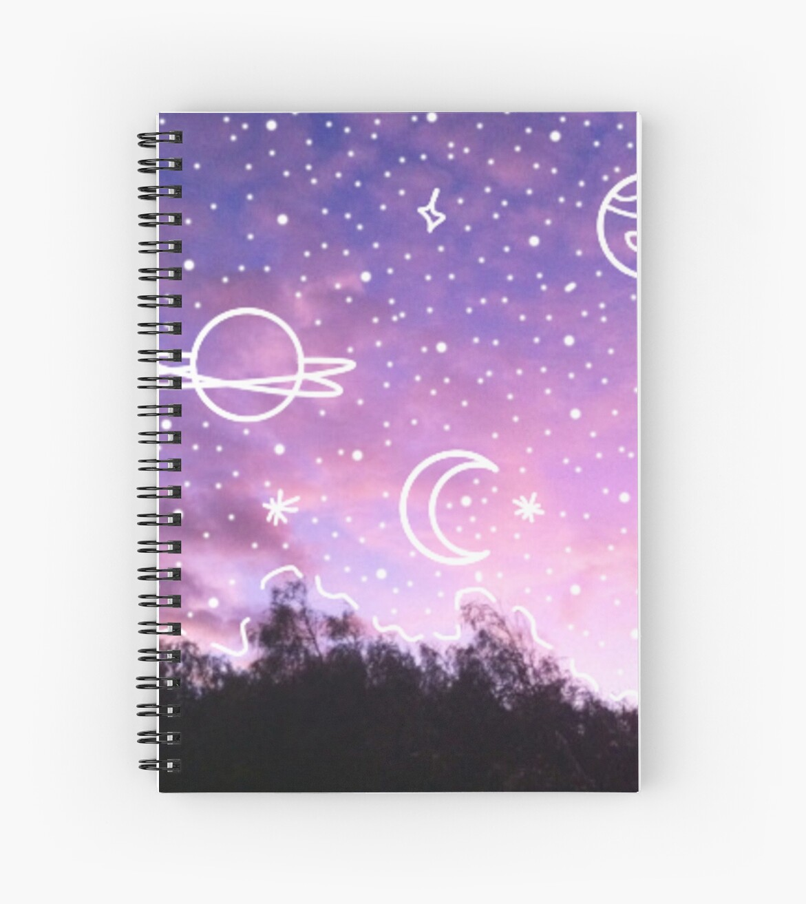 aesthetic tumblr sunset galaxy doodle spiral notebooks by lucie