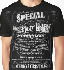 Politically Correct or Incorrect Black Chalk Christmas - We Graphic T-Shirt