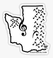 Music Sound Seattle (Black) Sticker