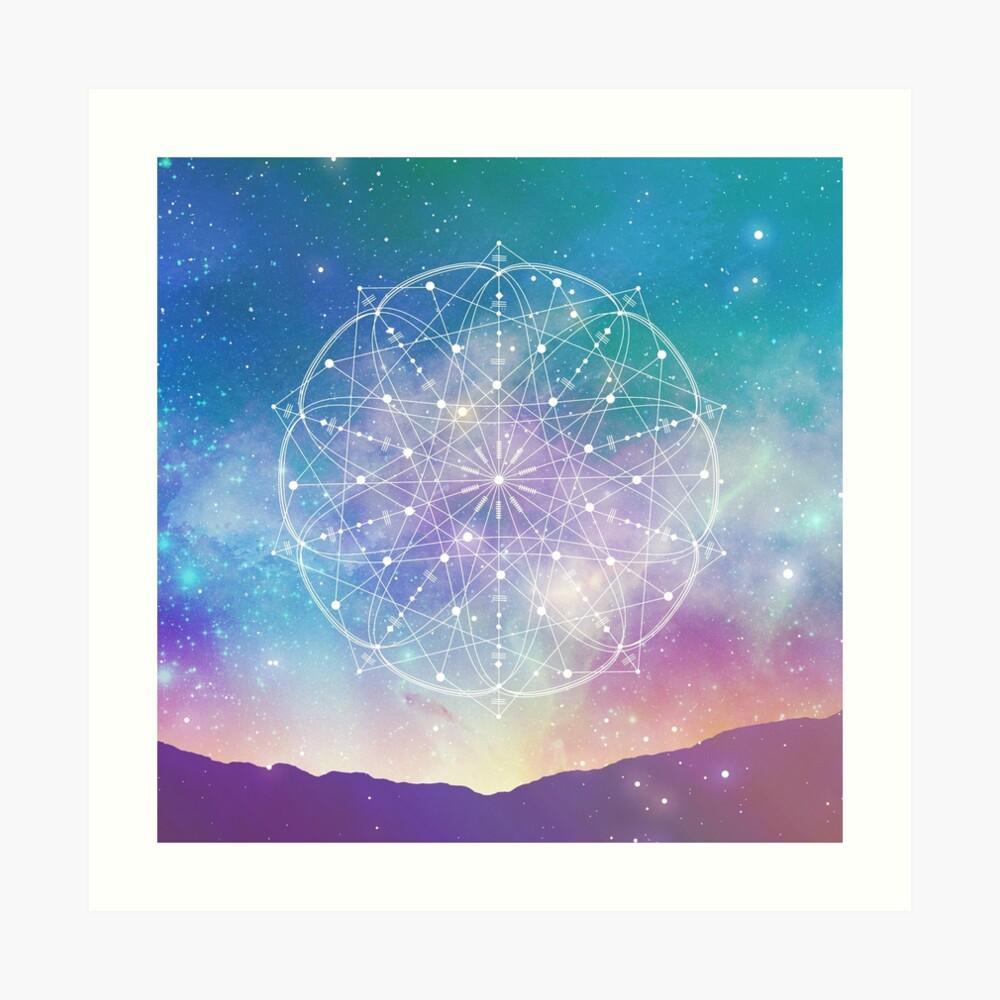 Geometría Sagrada (Interconectado) Lámina artística