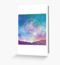 Sacred Geometry (Interconnected) Greeting Card