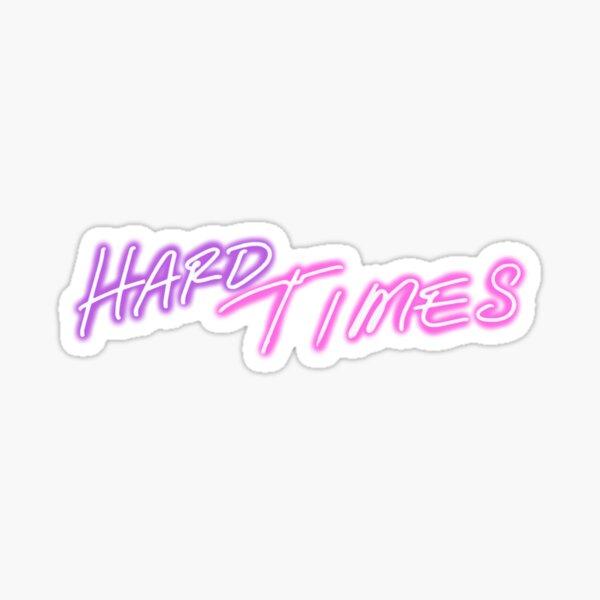 hard times logo light Sticker