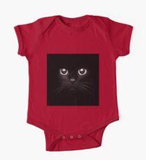 Black Cat throw pillow t-shirt tee art Kids Clothes