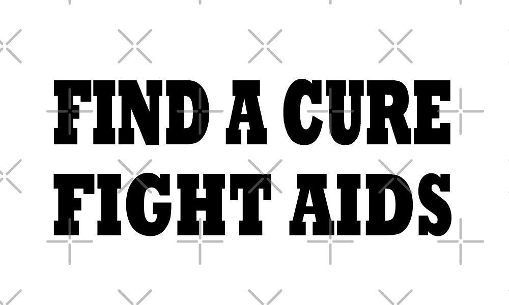 Find a Cure Fight AIDS T Shirt  by greatshirts