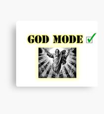 God Mode Canvas Print