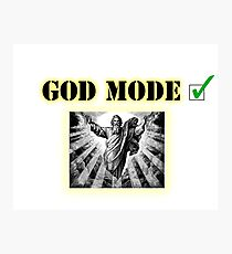 God Mode Photographic Print