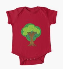 Paper Doll Tree One Piece - Short Sleeve