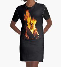 Feuer T-Shirt Kleid