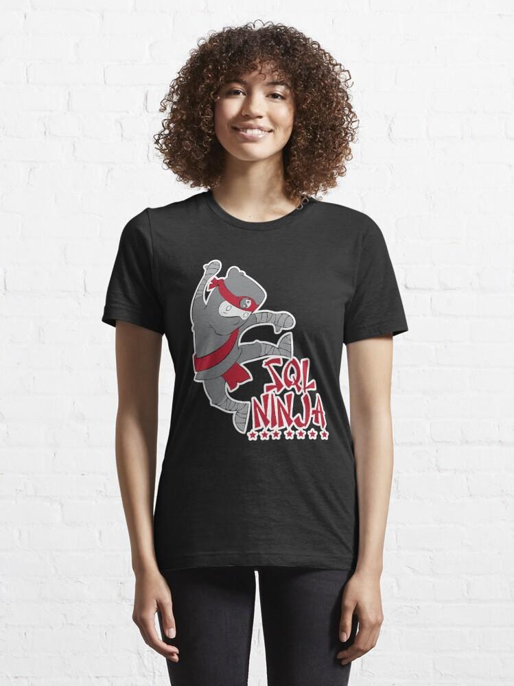 Alternate view of SQL Ninja Essential T-Shirt