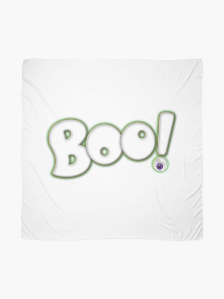 Alternate view of Cartoon Bold Hand Lettering 'Boo' Halloween Typography - with purple eyeball Scarf