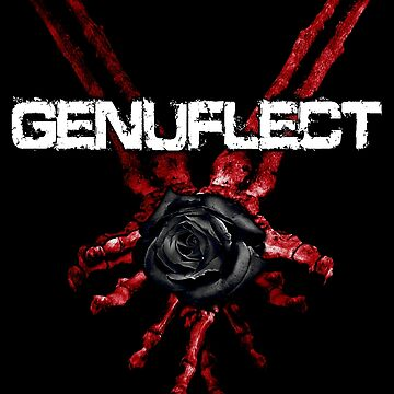 Red Skeleton Hands w/ Rose by GenuflectBand