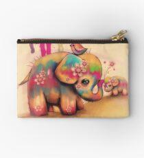vintage tie dye elephants Studio Pouch
