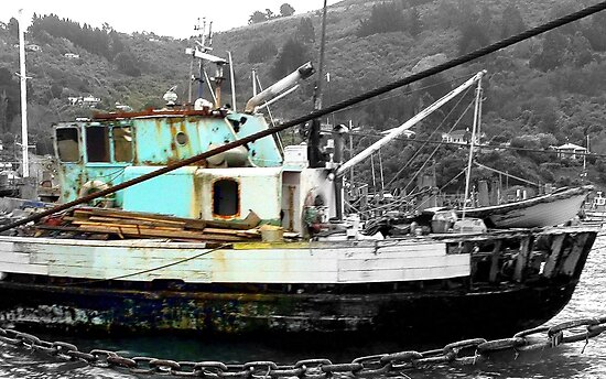 I am still seaworthy - NZ - Fishing Boat - Port Chalmers by AndreaEL