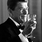 President Reagan Making A Toast by warishellstore
