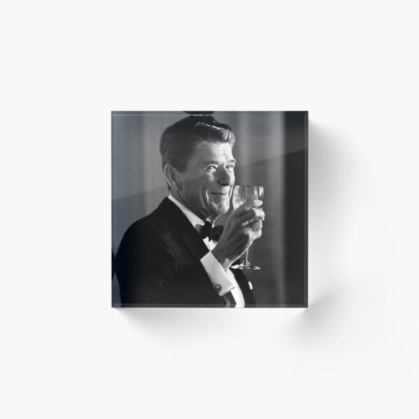 President Reagan Making A Toast Acrylic Block