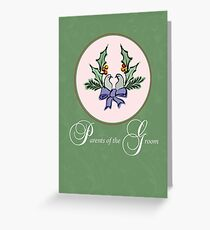 Parents of Groom, Christmas Turtle Doves Greeting Card