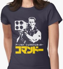 COMMANDO IN JAPANESE STYLE  Womens Fitted T-Shirt