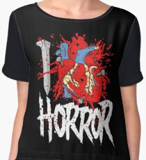 I LOVE HORROR  Women's Chiffon Top
