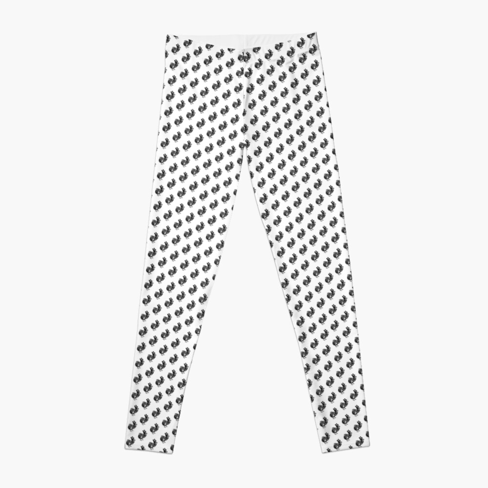 Mr Dodo | Vintage Dodos | Black and White |  Leggings