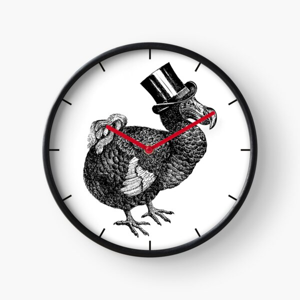 Mr Dodo | Vintage Dodos | Black and White |  Clock