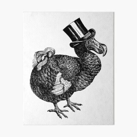Mr Dodo | Vintage Dodos | Black and White |  Art Board Print