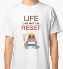 Life Can Not Be Reset! Animal Crossing UNIQLO Resetti Design Classic T-Shirt