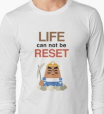 Life Can Not Be Reset! Animal Crossing UNIQLO Resetti Design T-Shirt