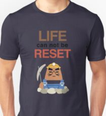 Life Can Not Be Reset! Animal Crossing UNIQLO Resetti Design Unisex T-Shirt